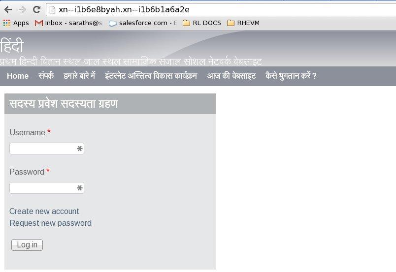 Hindi2domain name system